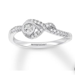 Interwoven diamond ring